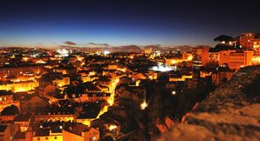 Night city from above Royalty Free Stock Photo
