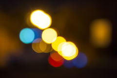 Night city abstract blur. Abstract blur lights of the night city Royalty Free Stock Photography