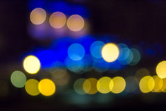 Night city abstract blur Royalty Free Stock Images