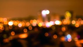 Night city abstract bokeh stock footage