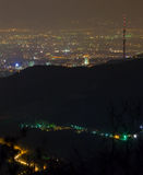 Night city, Almaty. Royalty Free Stock Photography