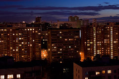 Night City Apartment blocks Royalty Free Stock Image