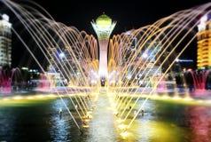 NIGHT CITY. Astana is beautiful city. It is capital city of KAZAKAHSTAN stock image