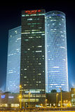 Night city, Azrieli center, Israel Royalty Free Stock Photo