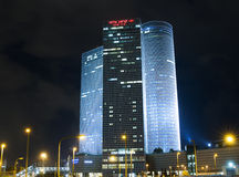 Night city, Azrieli center, Israel Stock Photos