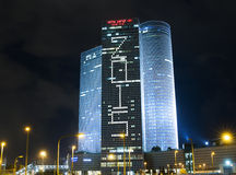 Night city, Azrieli center, Israel Stock Images
