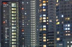 Night city background stock photography