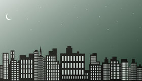 Night city background. Stock Photography