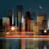 Night city background Stock Image