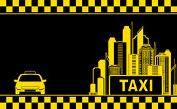 Night city background for taxi business card stock illustration