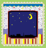 Night in the city background vector Royalty Free Stock Photography