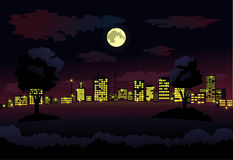 Night city background Stock Image