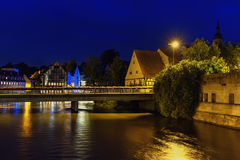 Night is in city Bamberg. Night is in city Bamberg stock photos