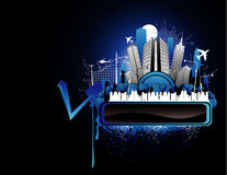 Night city banner vector Stock Images