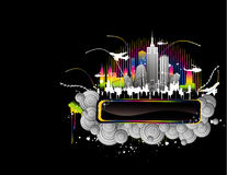 Night city banner vector Royalty Free Stock Photo