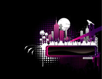 Night city banner vector Stock Image