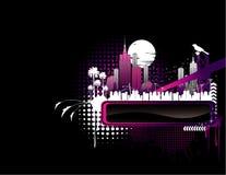 Night city banner vector Stock Image