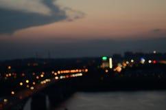 Night city. Royalty Free Stock Photo