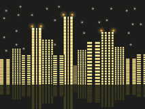 Night city. On a black background Stock Photos