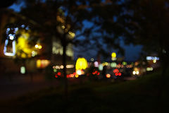 Night city bokeh Stock Photography
