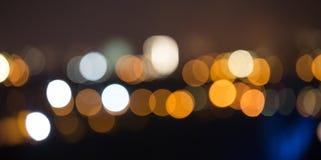 Night city bokeh background Stock Image