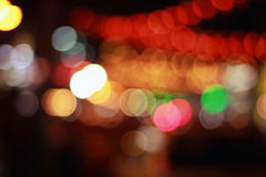 Night city bokeh lights Stock Photography