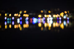 Night city bokeh.Out focus traffic. Royalty Free Stock Photos