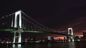 Night City Bridge Lights In Japan