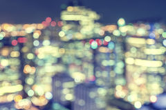 Night city building lights bokeh background Stock Photography