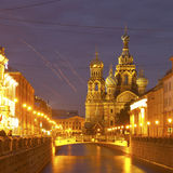 Night city. Canals of St. Petersburg Royalty Free Stock Photos