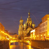 Night city. Canals of St. Petersburg Stock Photo