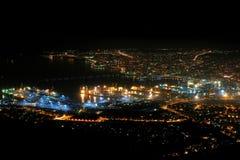Night city. On the coast of Black Sea Royalty Free Stock Photos