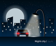 Night city concept Stock Photography