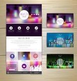 Night city concept Web site design. Royalty Free Stock Photos