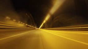 Night city drive time-lapse. Drive in night city, time-lapse stock footage