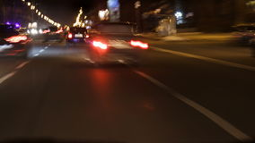Night City Drive Time Lapse. This is a time lapse of a car running at night city. Great for any driving, city, urban, car, automobile, traffic, speed, racing stock video footage