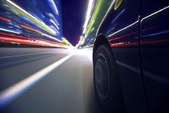 Night city driving Stock Image