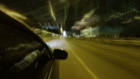 Night city driving stock video footage