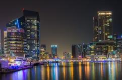 Night city dubai Stock Images
