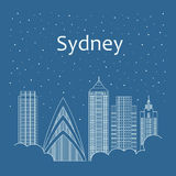 Night city in a flat style for banners, posters Royalty Free Stock Photography
