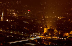 Night city Hamelin in Germany Stock Photos