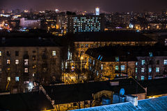 Night city from high point. With selective focus Royalty Free Stock Image