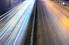 Night city highway Royalty Free Stock Photography