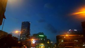 Night city. Hochiminh city in night royalty free stock photo
