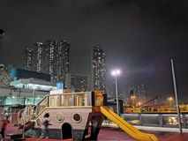 Night at the city Hong Kong royalty free stock photography