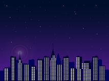 Night City Stock Image