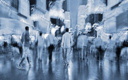 Night city of intentional motion blur Royalty Free Stock Images