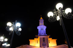 Night city. Ivano-Frankivsk Ukraine Royalty Free Stock Photo