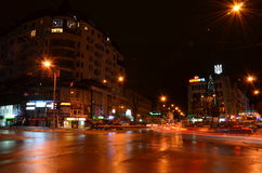 Night city. Ivano-Frankivsk Ukraine Stock Photos