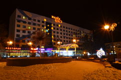 Night city. Ivano-Frankivsk Ukraine Royalty Free Stock Images
